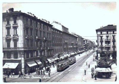 Buenos Aires Piazza Lima 1947 cartolina viaggiata 011
